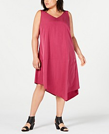 Plus Size Tencel Asymmetrical Dress