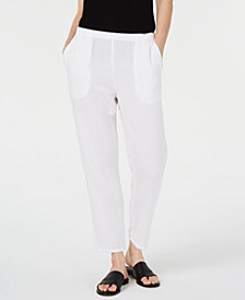 Crinkle Tapered Pull-On Pants, Regular & Petite