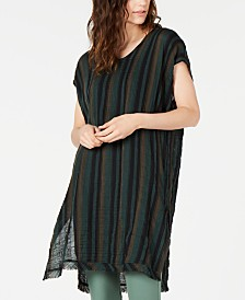 Eileen Fisher Cotton Striped Caftan Top, Regular & Petite