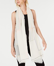 Eileen Fisher Organic Cotton Fringe-Trim Scarf