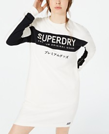 Superdry Embroidered Graphic Sweatshirt Dress