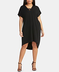 RACHEL Rachel Roy Trendy Plus Size  High-Low Dress