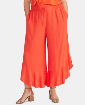 Rachel Rachel Roy Trendy Plus Ruffled Cropped Pants
