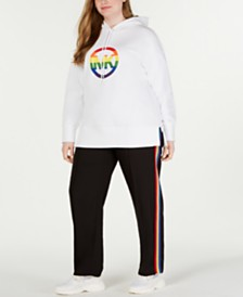 MICHAEL Michael Kors Plus Size Zip-Side Hoodie & Track Pants