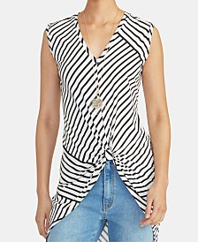 RACHEL Rachel Roy Miabella Twisted Striped High-Low Top