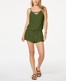 California Waves Juniors' Cover-Up Romper, Created for Macy's