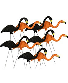"Spooky Flamingo 25"" Halloween Yard Décor, 10-Pack"