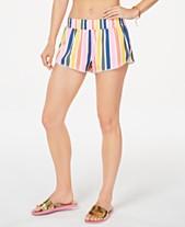 6e1eb3a38b California Waves Juniors' Baja Stripe Printed Swim Shorts, Created for  Macy's