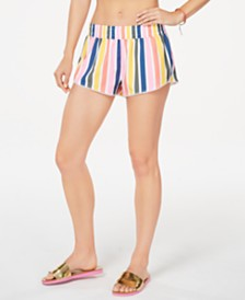 California Waves Juniors' Baja Stripe Printed Swim Shorts, Created for Macy's