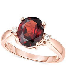 Rhodolite Garnet (2-1/2 ct. t.w.) & Diamond Accent Ring in 14k Rose Gold