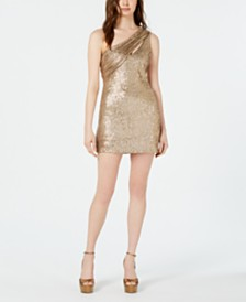 Rachel Zoe Magda Asymmetric Sequin Bodycon Dress