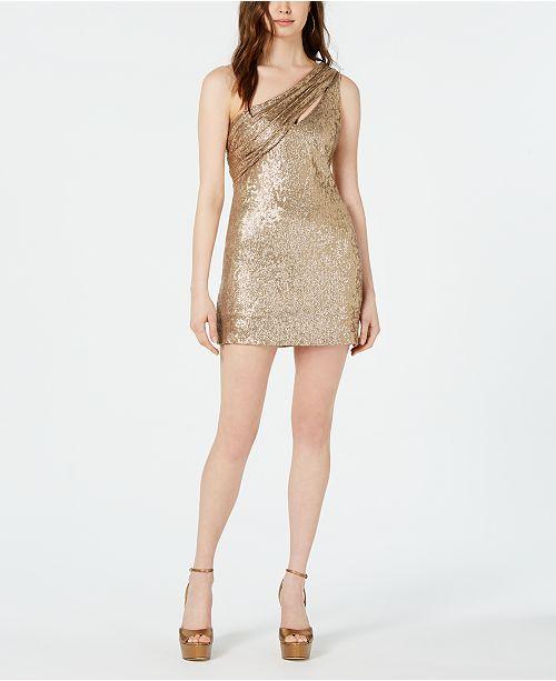 Rachel Zoe Magda Asymmetric Sequin Bodycon Dress