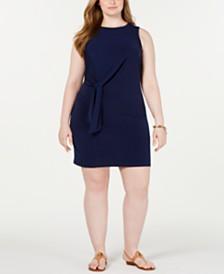 MICHAEL Michael Kors Plus Size Tie-Waist Sheath Dress