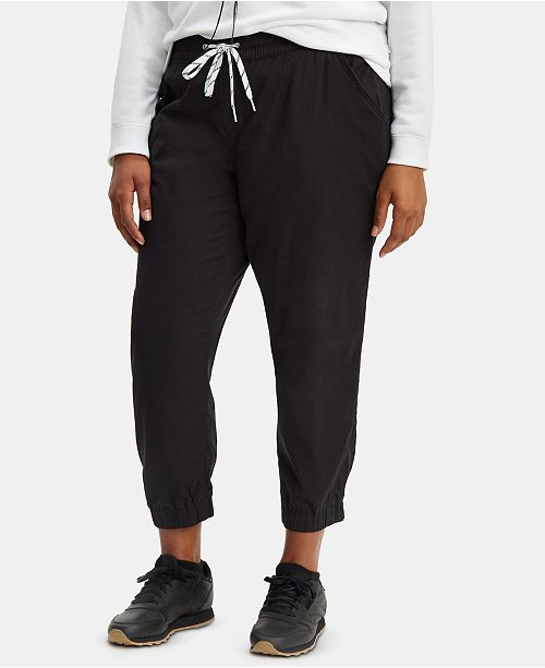 Levi's Trendy Plus Size  Drawstring Jogger Pants