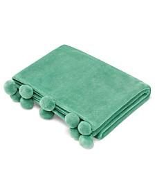 Azalea Skye Salma Pom Pom Parrot Green Ultra Soft Plush Throw