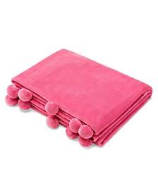 Azalea Skye Salma Pom Pom Honeysuckle Ultra Soft Plush Throw
