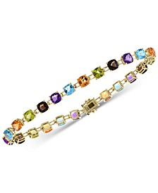 EFFY® Multi-Gemstone Link Bracelet (13-3/4 ct. t.w.) in 14k Gold