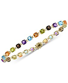 EFFY® Multi-Gemstone Link Bracelet (13-3/4 ct. t.w.) in 14k Gold