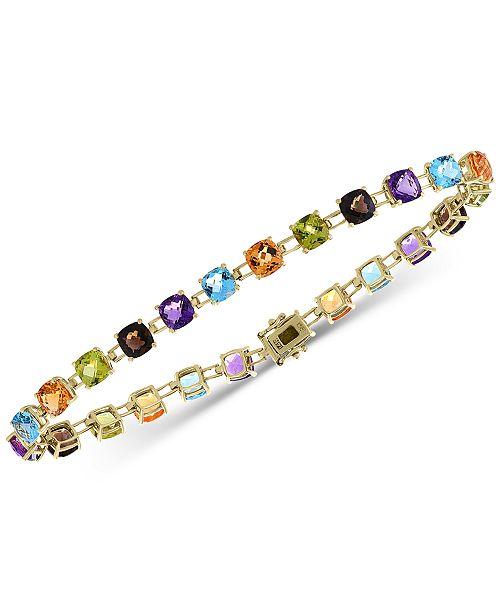 EFFY Collection EFFY® Multi-Gemstone Link Bracelet (13-3/4 ct. t.w.) in 14k Gold