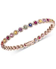 EFFY® Multi-Sapphire (4-1/2 ct. t.w.) & Diamond (1-1/10 ct.t.w.) Bracelet in 14k Gold