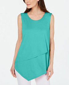Alfani Tiered Asymmetrical Top, Created for Macy's