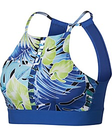Hyper Femme Printed Lattice Open-Back Low-Impact Sports Bra