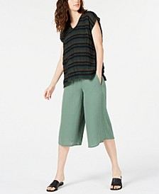 V-Neck Top & Culotte Pants