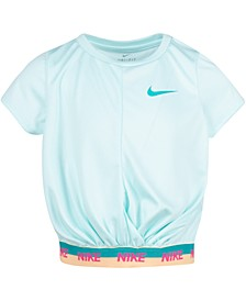 Little Girls Cropped Dri-FIT Logo T-Shirt