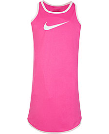 Nike Little Girls Modern-Fit Dri-FIT Logo-Print Racerback Dress