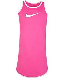 Nike Little Girls Modern-Fit Dri-FIT Logo-Print Racerback Dress