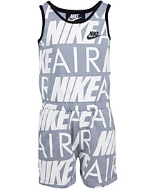 Little Girls Nike Air Modern-Fit Logo Romper