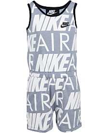 Nike Little Girls Nike Air Modern-Fit Logo Romper