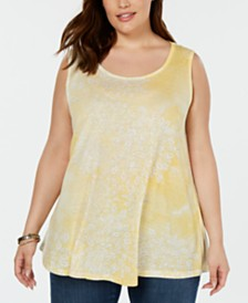 Style & Co Plus Size Printed Tank, Created for Macy's