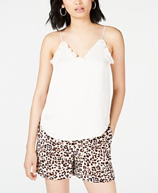 Bar III Ruffled Camisole, Created For Macy's
