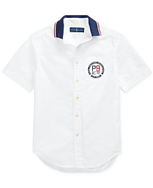 Polo Ralph Lauren Big Boys Cotton Poplin Graphic Shirt
