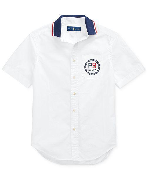 Polo Ralph Lauren Big Boys Cotton Poplin Graphic Shirt