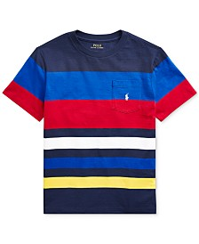 Polo Ralph Lauren Big Boys Striped Cotton Jersey T-Shirt