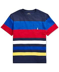 00c80ce98b7a Polo Ralph Lauren Big Boys Striped Cotton Jersey T-Shirt