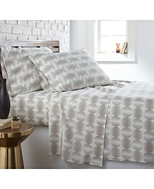 Southshore Fine Linens Modern Sphere Printed 4 Piece Sheet Set, Twin/Long