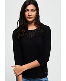 Whitney Embroidered Long Sleeve Top