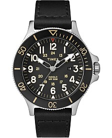 Timex Allied Coastline 43mm Leather Strap Watch