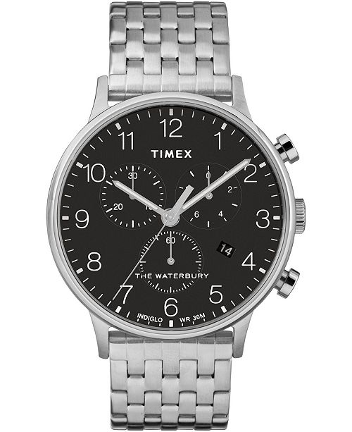 Timex Boutique Timex Waterbury Classic Chronograph 40mm Stainless Steel Case and Bracelet Watch