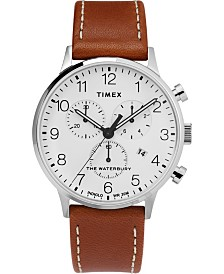 Timex Waterbury Classic Chronograph 40mm Leather Strap Watch