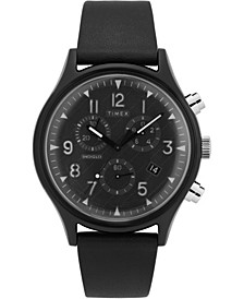 Timex MK1 Supernova™ Chronograph 42mm Black Leather Strap Watch