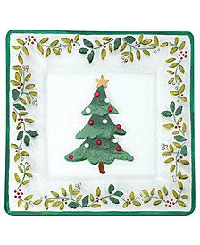 Pfaltzgraff Winterberry Square Glass Platter
