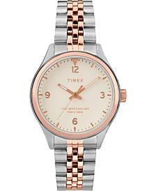 Timex Waterbury Traditional 34mm Stainless Two-Tone Rose Gold Stainless Steel Case and Bracelet Watch