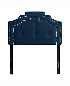 Aspen Crown Silhouette Headboard with Button Tufting, Single/Twin