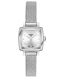 Tissot Women's Swiss T-Lady Lovely Diamond Accent Stainless Steel Mesh Bracelet Watch 20mm