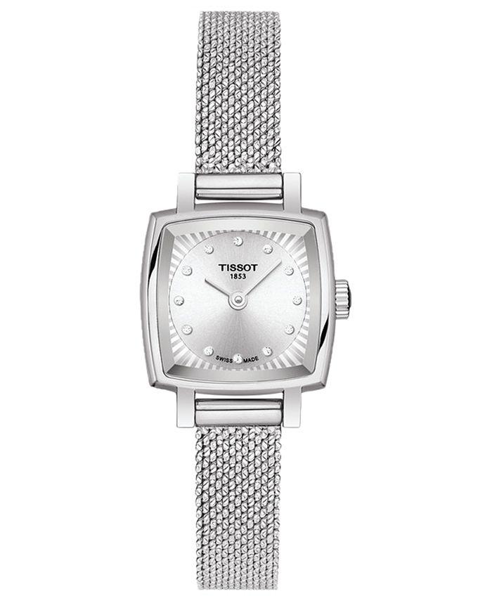 Tissot - Women's Swiss T-Lady Lovely Diamond Accent Stainless Steel Mesh Bracelet Watch 20mm