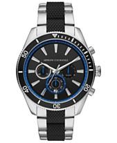 5eeaa701d6 A|X Armani Exchange Men's Chronograph Enzo Two-Tone Stainless Steel & Silicone  Bracelet